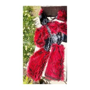 The Original Cult Rave Faux Fur LipService Costume